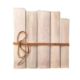 Large Warm White Book Stack - Set of 5