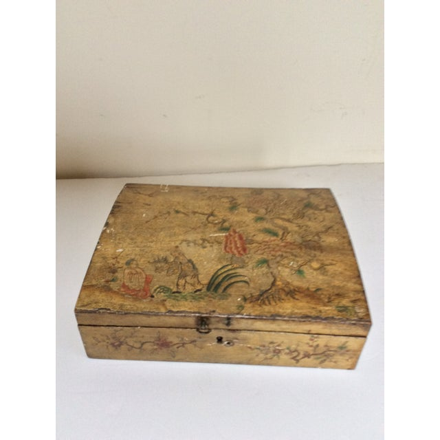 Yellow Chinoiserie Domed Box For Sale In San Antonio - Image 6 of 6
