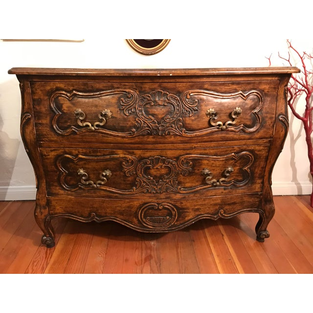 18th Century Style Carved French Provincial Dresser For Sale - Image 9 of 13