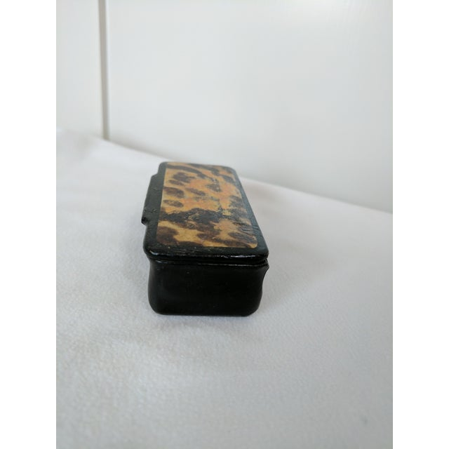 Traditional Victorian Papier Mache Box For Sale - Image 3 of 5