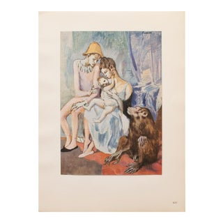 """1948 Pablo Picasso Original """"The Acrobat's Family With a Monkey"""" Lithograph, C. O. A. For Sale"""