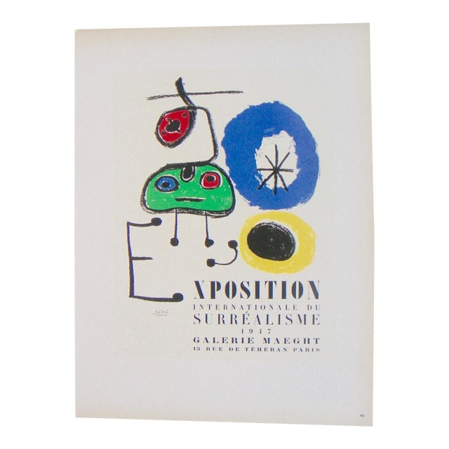 Miro Exhibition Poster - Image 1 of 3
