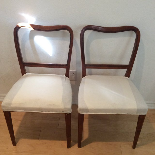 Vintage side chairs found in a Swedish barn.