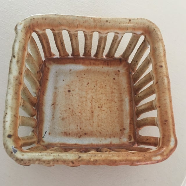 1960s Cohen Pottery Organic Modern Basket For Sale - Image 5 of 13