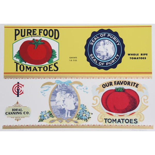 Traditional 1978 Barbara Cesery Tomatoes Print For Sale - Image 3 of 3