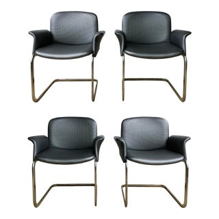 Late 20th Century Trimark Arm Dining Chairs- Set of 4 For Sale