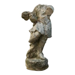 French Stone Figure For Sale