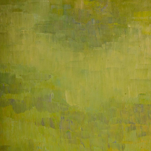 """1960s """"Flock of Seagulls"""" Abstract Oil Painting, Framed For Sale - Image 11 of 12"""