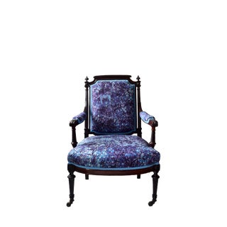 19th Century French Louis XVICarved Wood and Upholstered Armchair For Sale