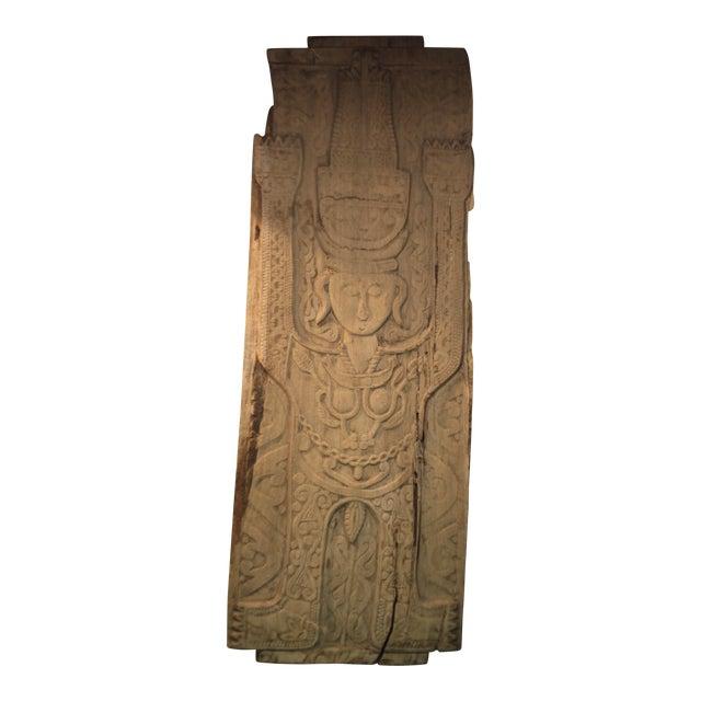 20th Century Antique Asian Hand Carved Wooden Queen Door - 20th Century Antique Asian Hand Carved Wooden Queen Door Chairish