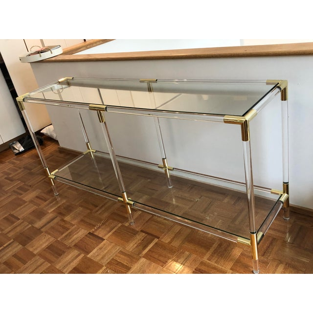 Modern Interlude Home Acrylic, Glass & Gold Console Table ...