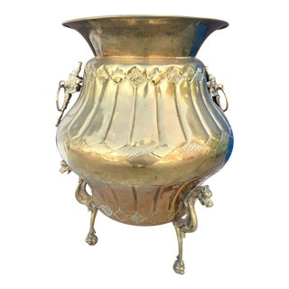 Solid Brass Large Oriental Planter