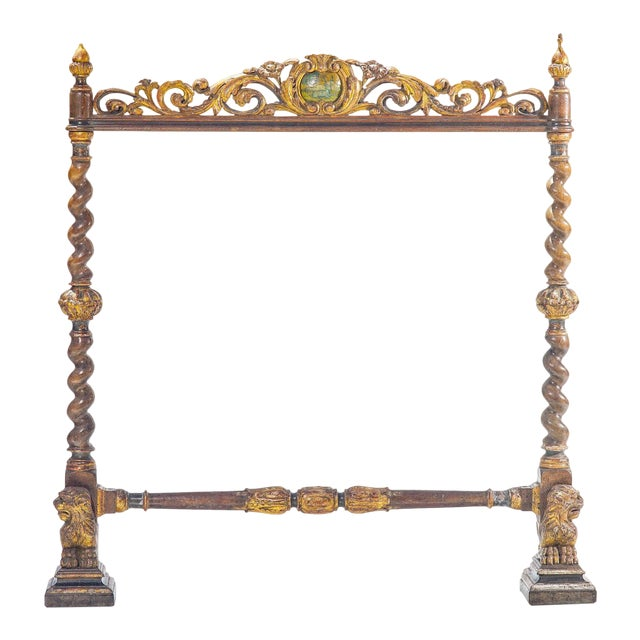 19th C. Italian Polychromed Fireplace Surround For Sale