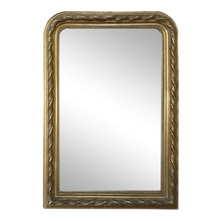 French Gilded Mirror, 19th Century Louis Philippe Period For Sale