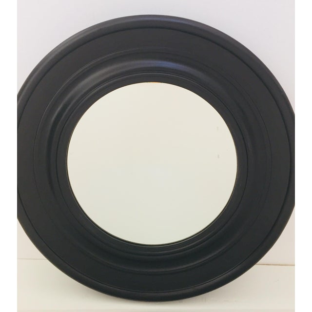 Large Round Black Painted Mirror For Sale - Image 11 of 11