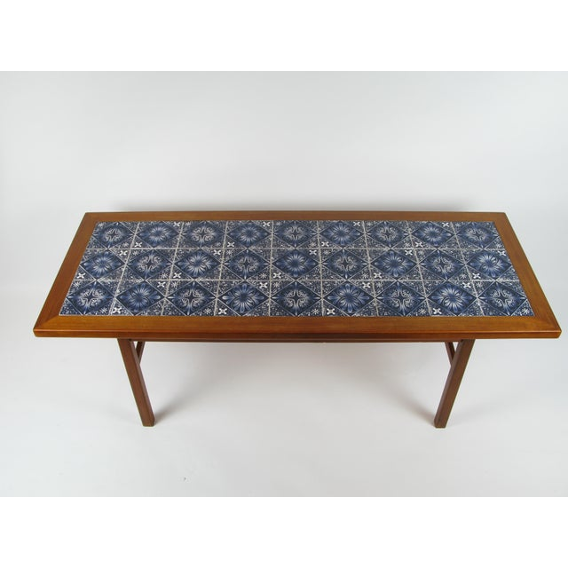 Danish Modern Teak Coffee Table With Royal Copenhagen Tile Inserts For Sale - Image 5 of 5