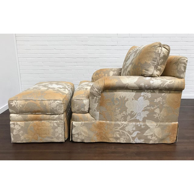 RJones Adolfo Lounge Chair & Matching Ottoman - A Pair For Sale - Image 5 of 10