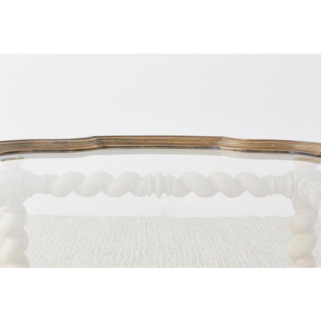 Baker Barley Twist Brass Tray Coffee Cocktail Table For Sale - Image 9 of 13
