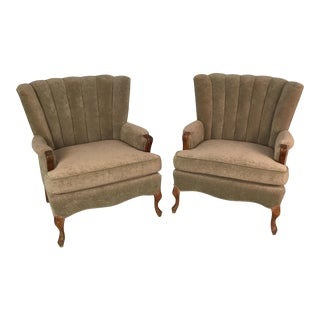French Art Deco Accent Chairs - A Pair