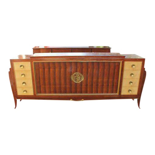 Spectacular French Art Deco Palisander And Sycamore Sideboard / Credenza Circa 1935s For Sale