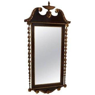 Giltwood Mahogany Mirror For Sale