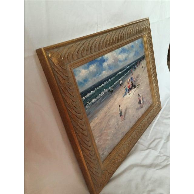 Paul Grant Impressionist Oil Seaside Painting - Image 3 of 4