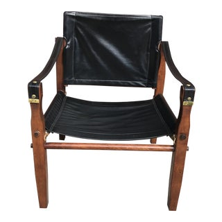 Vintage Mid Century Modern Gold Medal Furniture Safari Sling Chair For Sale