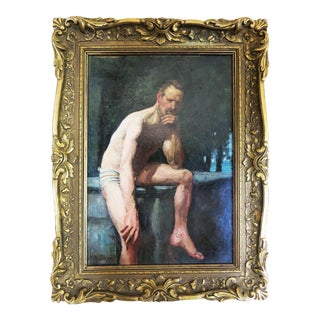 George Agnew Reid (1860 - 1947) Original 19th Century Oil Painting on Board For Sale