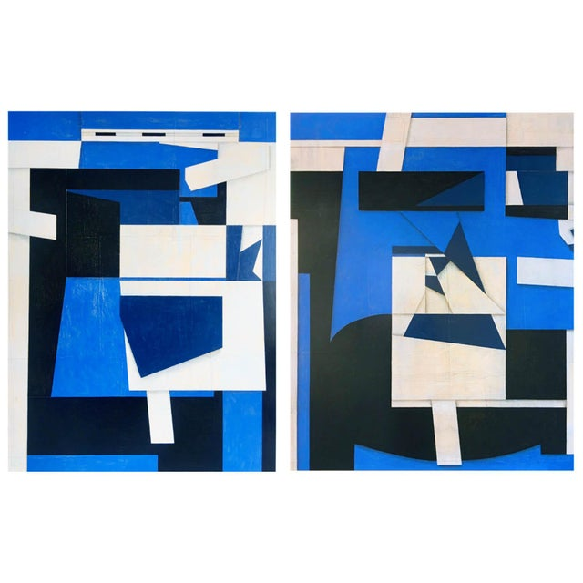 2010s Original Diptych Paintings on Canvas by Cecil Touchon For Sale - Image 5 of 5
