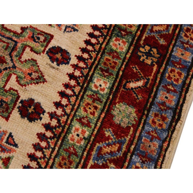 Persian Geraldo Ivory/Red Hand-Knotted Wool Rug - 2'0 X 2'11 For Sale - Image 4 of 8