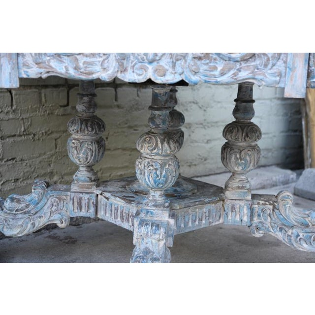 French Provincial Octagonal Painted Center Dining Table - Image 8 of 8