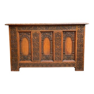 19th Century French Carved Oak Altar Table Hall Foyer Gothic Chapel Church For Sale