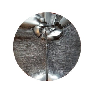 Brutalist Aluminum Wall Hanging For Sale