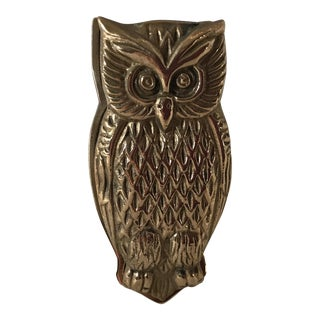 Mid-20th Century Americana Brass Owl Clip