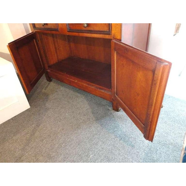 Fantastic 19thc Two Piece Walnut Stepback Wall Cupboard For Sale In Los Angeles - Image 6 of 9