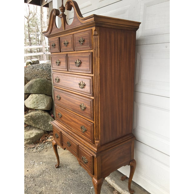 Queen Anne Queen Anne Dixie Highboy Dresser For Sale - Image 3 of 11