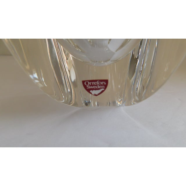 Mid-Century Modern Vintage Orrefors Crystal Bowl For Sale - Image 3 of 12