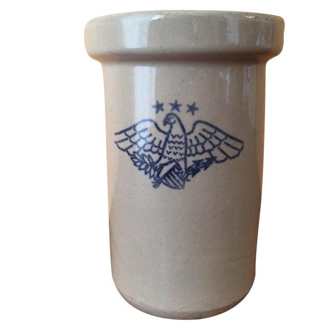 Vintage American Eagle Salt Glaze Crock - Image 1 of 9