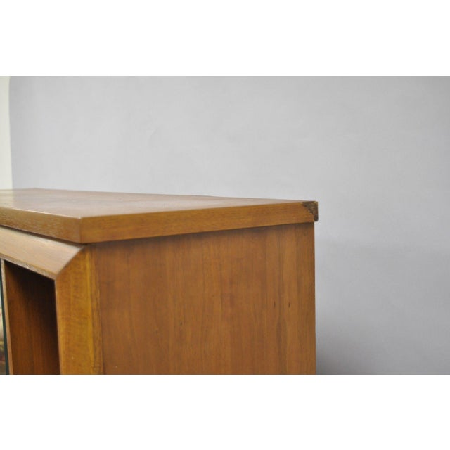 1960s Mid Century Modern Bassett Furniture Walnut Bookcase/Credenza For Sale In Philadelphia - Image 6 of 13