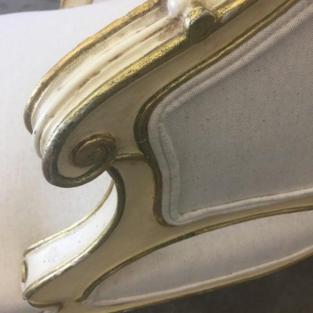 Italian Parcel Gilt Chaise Lounge Recaimier Fainting Sofa - Image 5 of 8