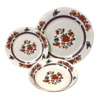 Crown Ming Old Imari Pattern China (3 Piece Settings)