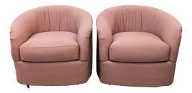 Image of Dark Pink Club Chairs