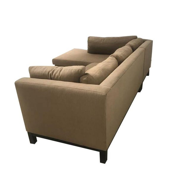 Mid 20th Century Crate & Barrel Sectional Sofa For Sale - Image 5 of 11