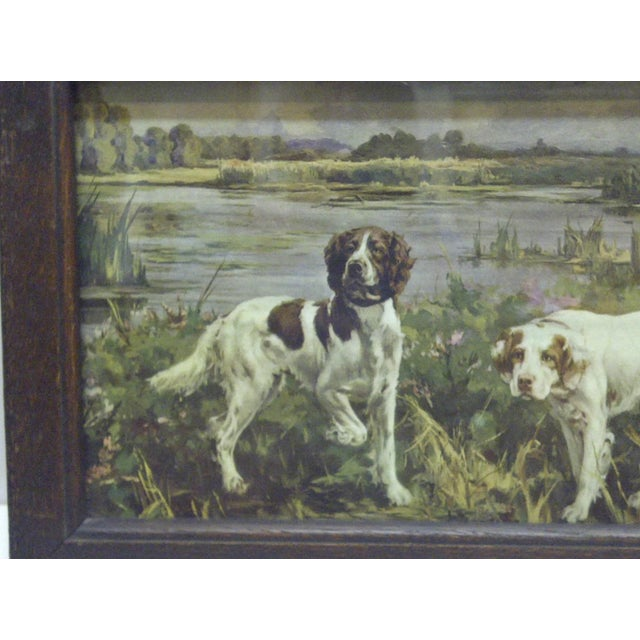 Circa 1900 Bird Dogs Framed Print For Sale - Image 4 of 6