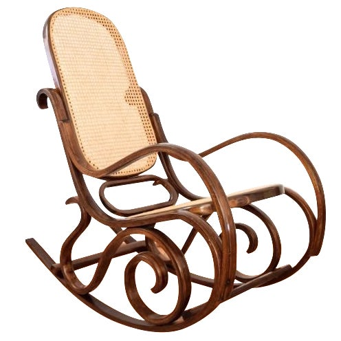 Vintage Thonet Style Bentwood Cane Rocking Chair - Image 1 of 6