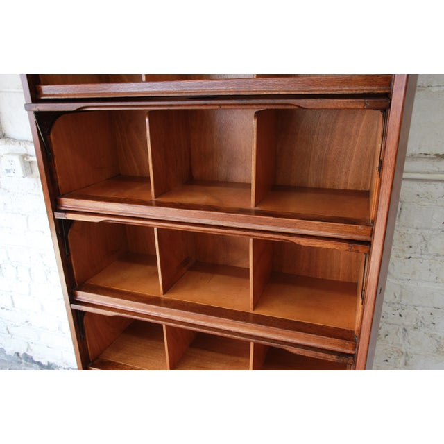 Mid-Century Oak Barrister Bookcase For Sale - Image 9 of 12