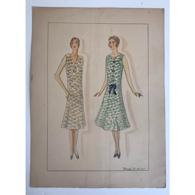 Twelve Fashion Designs by University of Washington Student, 1929 For Sale - Image 6 of 13