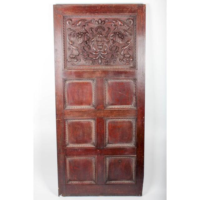 1880 Vanderbilt Mansion Original Hand-Carved Oak Lion Wall Panel For Sale - Image 4 of 11