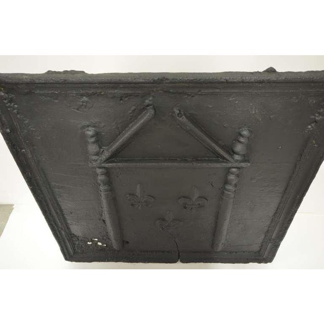 French 18th C. French Large Square Fireback For Sale - Image 3 of 9
