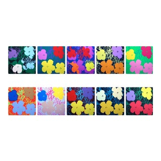 Andy Warhol Flowers Published by Sunday B. Morning - Set of 10 Screenprints For Sale